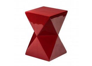 Pufe Ampulheta Vermelho