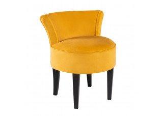 Poltrona Mignon Camurça Amarela