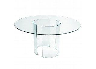Tampo de Vidro com Base Curva Cristal