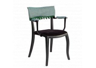 Cadeira Duomo com Braço com encosto e apoio Zig Zag e pingente verde
