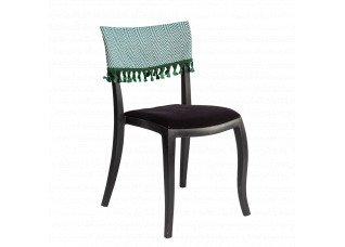 Cadeira Duomo sem Braço com encosto Zig Zag  e pingente verde