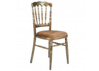 Cadeira Dior Ouro Velho com Assento Veludo